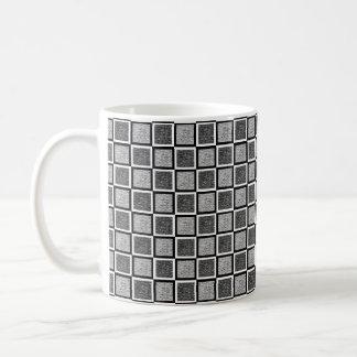 Static Black and White Squares Coffee Mug