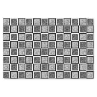 Static Black and White Squares Tissue Paper