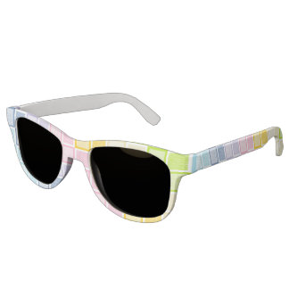 Static Pastel Rainbow Squares Sunglasses