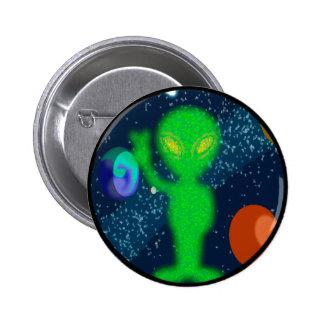 Static Peace Space Alien 6 Cm Round Badge