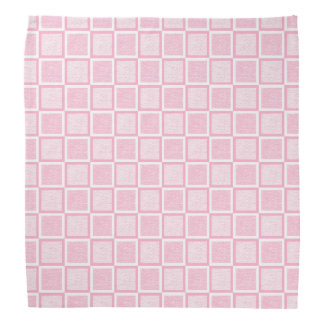 Static Pink and White Squares Bandana