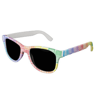 Static Rainbow Squares Sunglasses