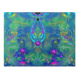 Static Stunning Abstract Postcard