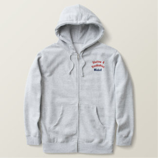 Station 4 Firefighter, Mickel-Hooded Jacket-Zip Embroidered Hoodie