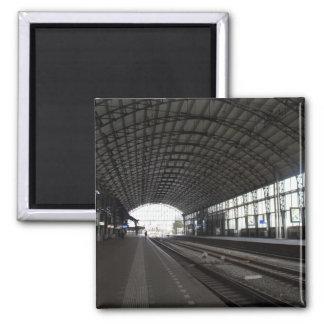 Station Haarlem Square Magnet