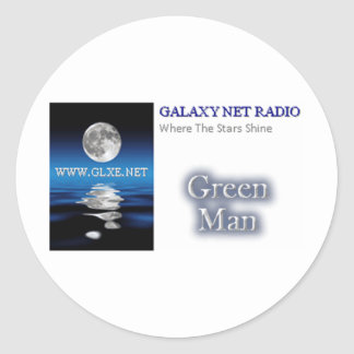 Station Logo - Green Man Round Sticker