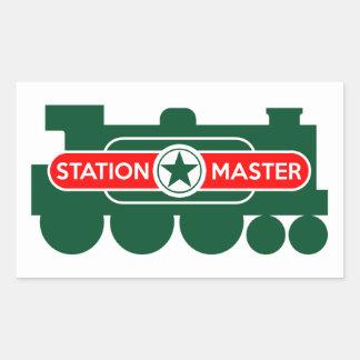 Station Master Rectangular Sticker