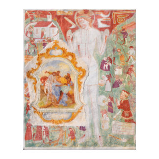 Station of the Cross Fresco on St. Jacob Church Gallery Wrap Canvas
