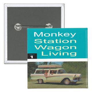 Station Wagon Living 15 Cm Square Badge