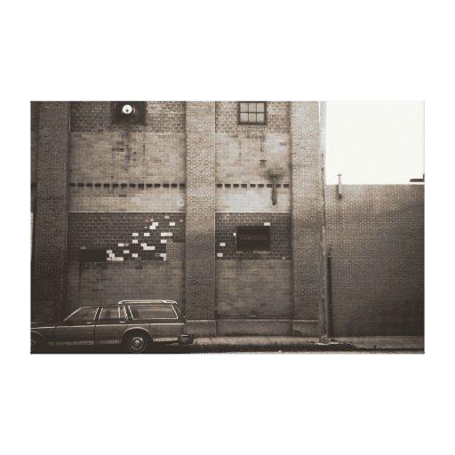 Station Wagon Urban Industrial Cityscape Canvas Print