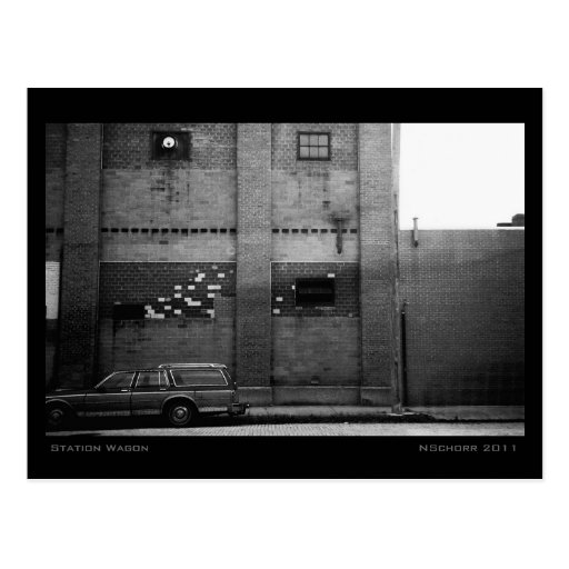 Station Wagon Urban Industrial Cityscape Post Cards