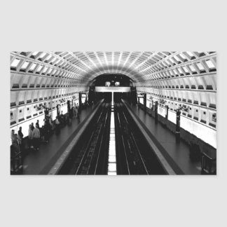station washington metro train subway rectangular sticker