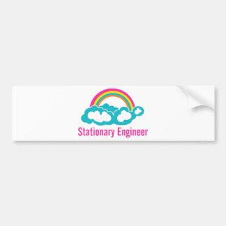 Stationary Engineer Cloud Rainbow Bumper Stickers