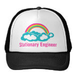 Stationary Engineer Cloud Rainbow Cap