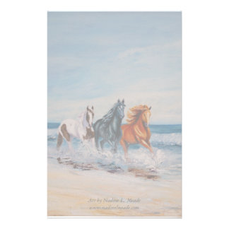 Stationary, Horses in the surf Stationery