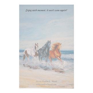 Stationary, Horses in the Surf Custom Stationery