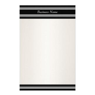 Stationery Black Cream White