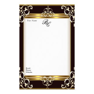 Stationery Elegant Gold White Black Elite