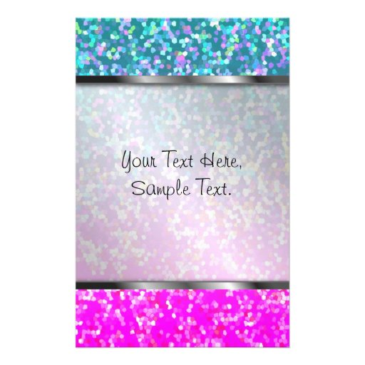 Stationery Glitter Graphic Background