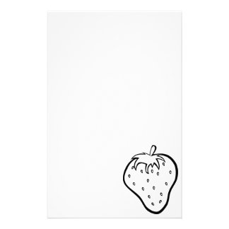 Stationery-Just for Kids-Color Your Own-Strawberry Stationery