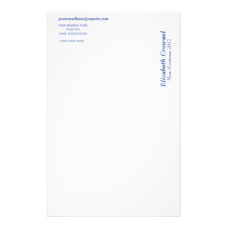 Stationery On The Side Letterhead