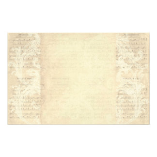 Stationery Paper Vintage Music Sheet Cream