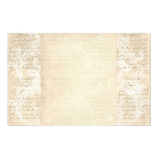 Stationery Paper Vintage Music Sheet Cream Blush