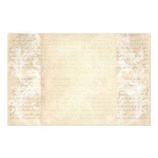 Stationery Paper Vintage Music Sheet Cream Blush