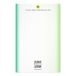 Stationery Template Green Party