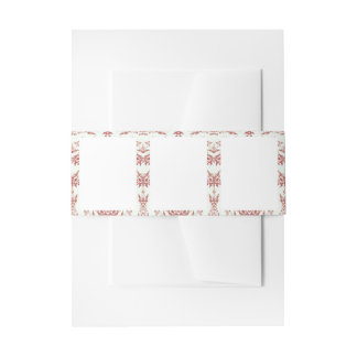 Stationery with Border Design Invitation Belly Band