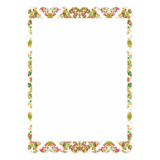Stationery with Decorative Design Borders Card