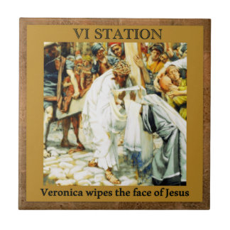 Stations of the Cross #6 of 15 Veronica Tile