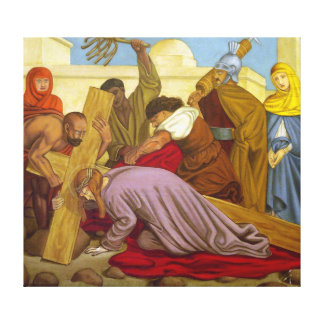 Stations of the Cross 9 Jesus Falls the Third Time Gallery Wrapped Canvas