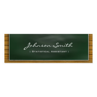 Statistical Assistant - Cool Blackboard Personal Business Card Template