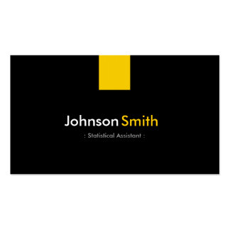Statistical Assistant - Modern Amber Yellow Pack Of Standard Business Cards