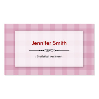 Statistical Assistant - Pretty Pink Squares Business Card Templates