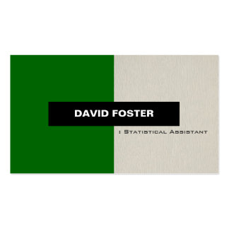 Statistical Assistant - Simple Elegant Stylish Pack Of Standard Business Cards