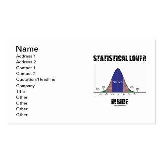 Statistical Lover Inside (Bell Curve) Pack Of Standard Business Cards