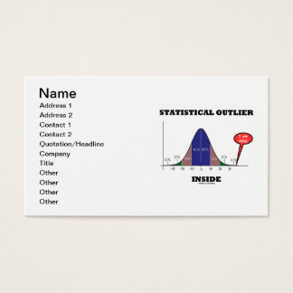 Statistical Outlier Inside (Bell Curve Humor) Business Card