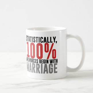 Statistically 100% of Divorces Begin With Marriage Basic White Mug