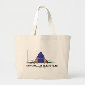 Statistically Irresistible (Stats Humor) Jumbo Tote Bag