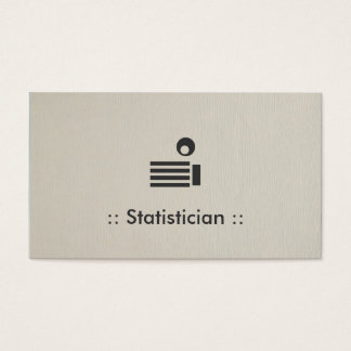 Statistician Simple Elegant Professional Business Card