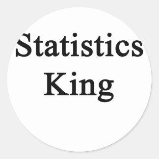 Statistics King Classic Round Sticker