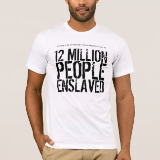 Statistics of Slavery t-shirt (men)