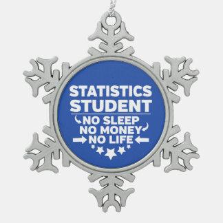Statistics Student No Life or Money Snowflake Pewter Christmas Ornament