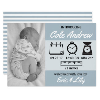 Stats Baby Announcement