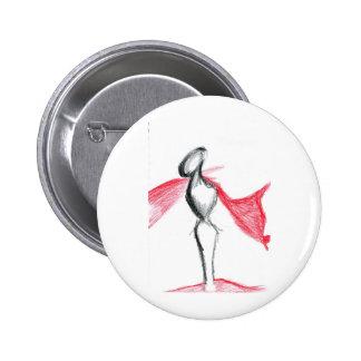 Statua Pallid Red Pinback Buttons