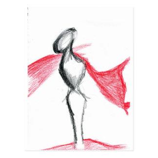 Statua Pallid Red Postcard