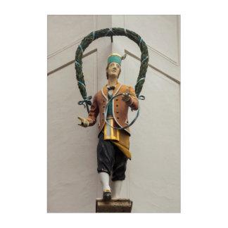 Statue Adorns A Building, Bavaria Acrylic Wall Art