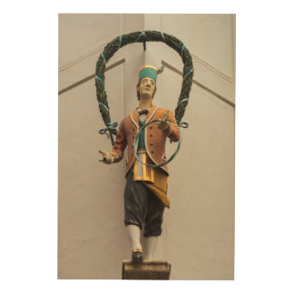Statue Adorns A Building, Bavaria Wood Wall Decor
